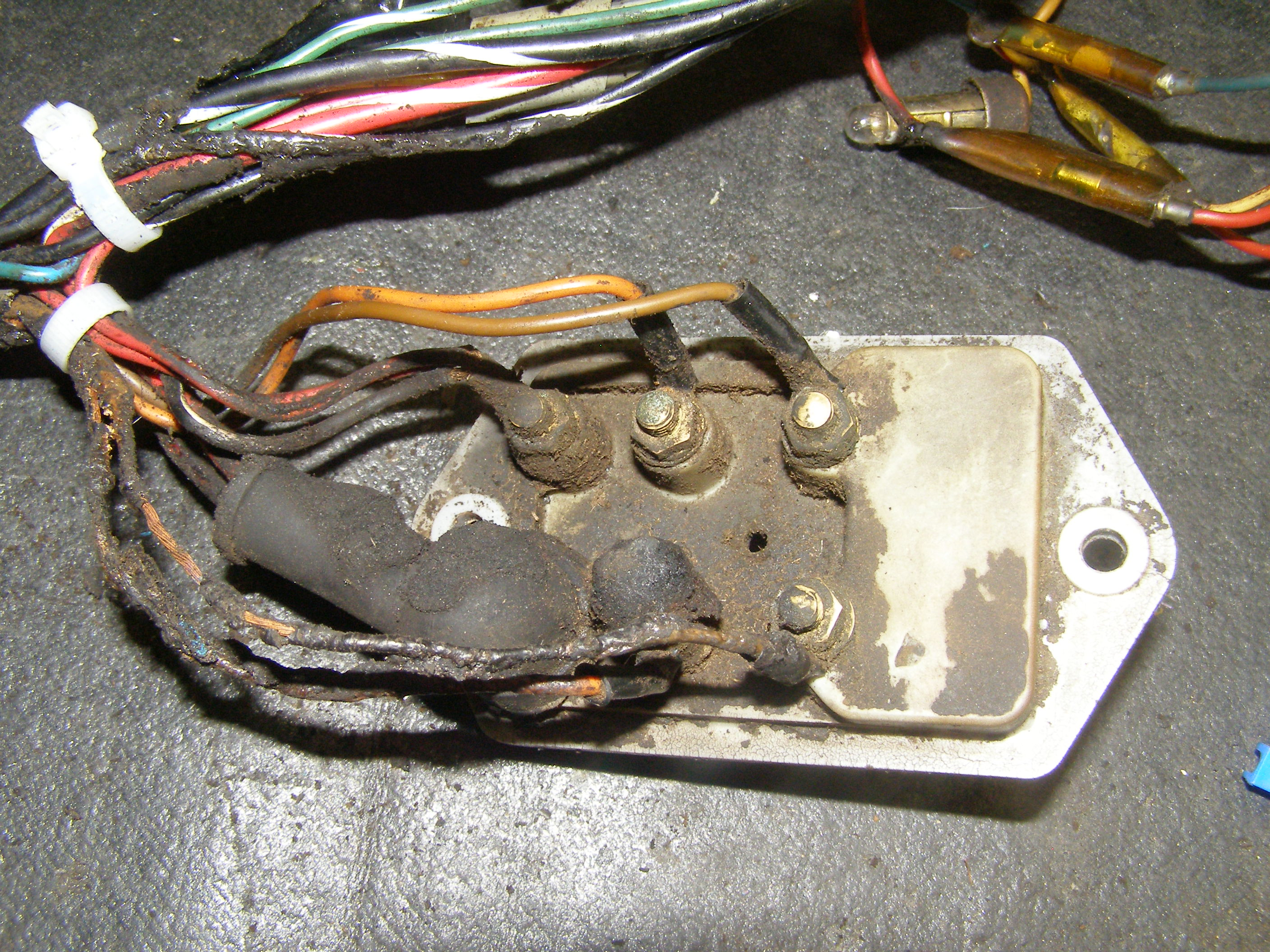 Vintage Tractor Harness With Brunt Wires Due To Incorrect Fuse