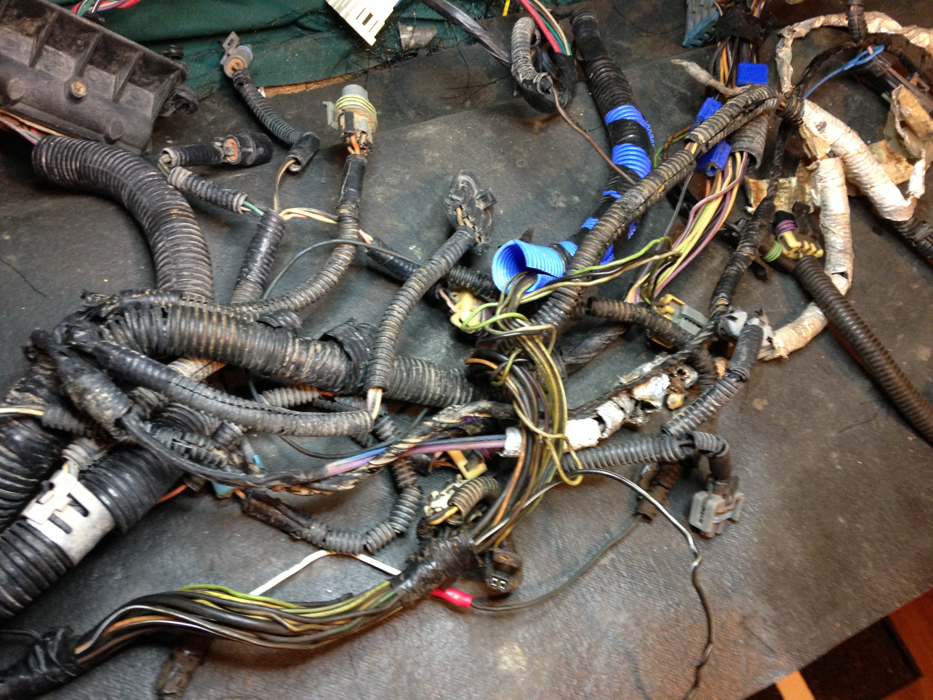 Wiring Harness That Has Been Cut And Hacked Up