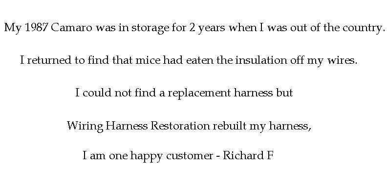 Customer Richard F Feedback